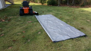 Laying out the tarp
