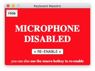 MicDisable