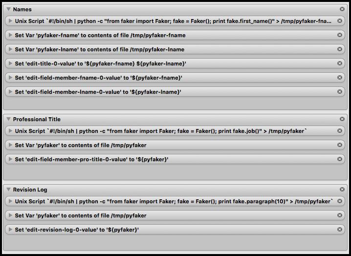 Python Faker with the Fake App (Mac OS) – AgileAdam com