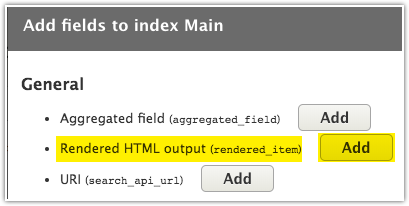 Rendered HTML output